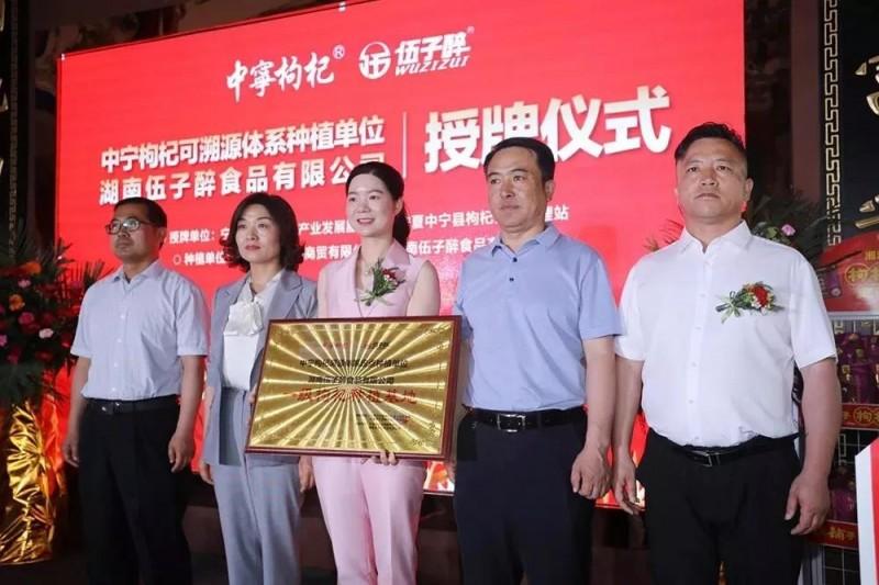 中寧枸杞溯源體系定點種植單位授牌儀式